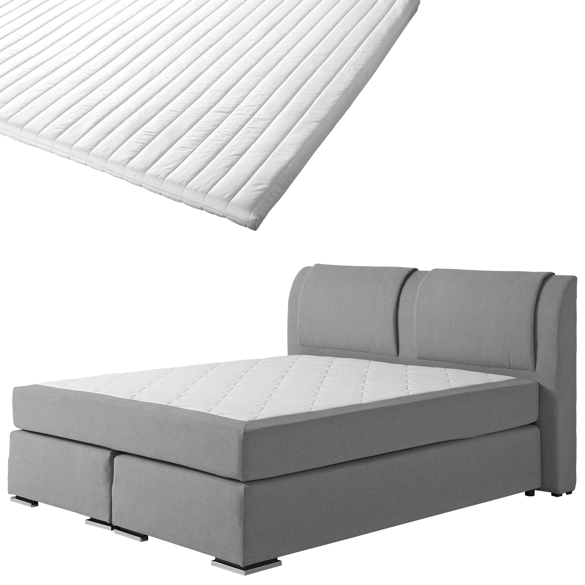 Boxspringbett-Set SUPERDREAM Himmerland/ErgoMAXX® Komfortschaum-Topper Stockholm (180x200)