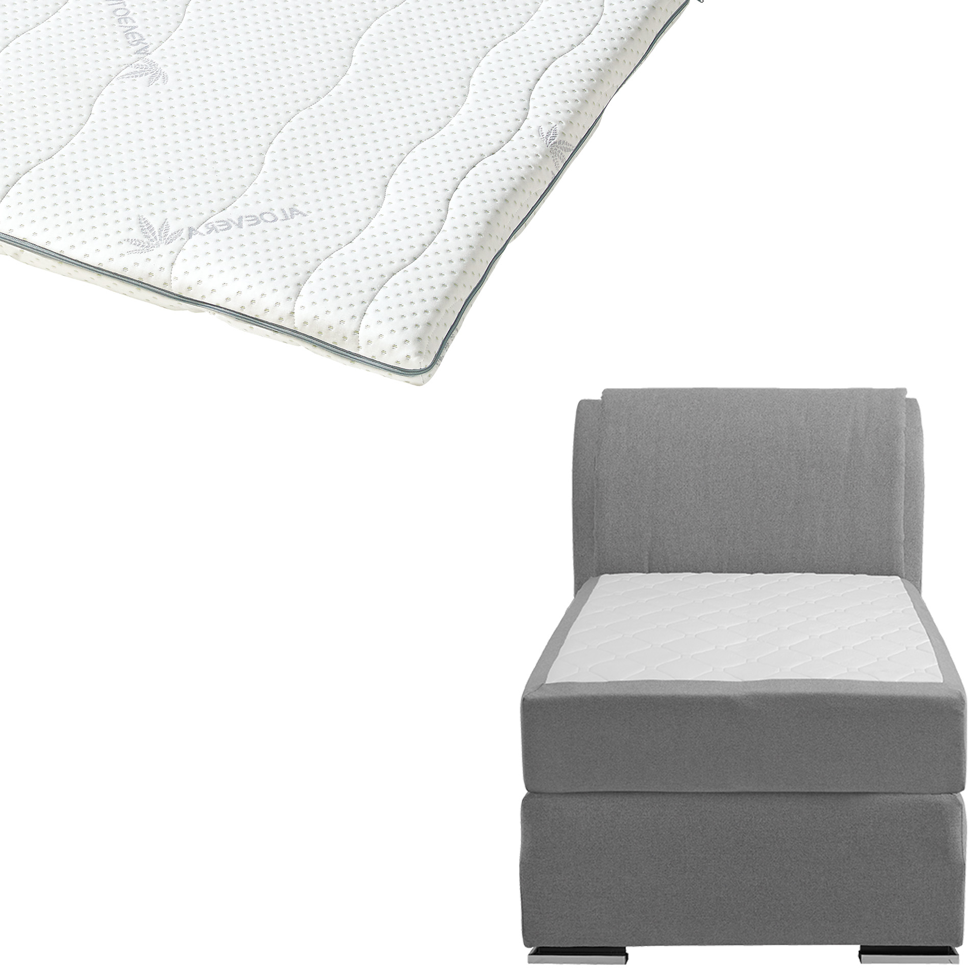 Boxspringbett-Set SUPERDREAM Himmerland/ErgoMAXX® Gel Touch®-Topper (90x200)