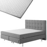 Boxspringbett-Set SCHLARAFFIA® Nordic/ErgoMAXX® Gel Touch® Visko-Gelschaum-Topper (180x200)