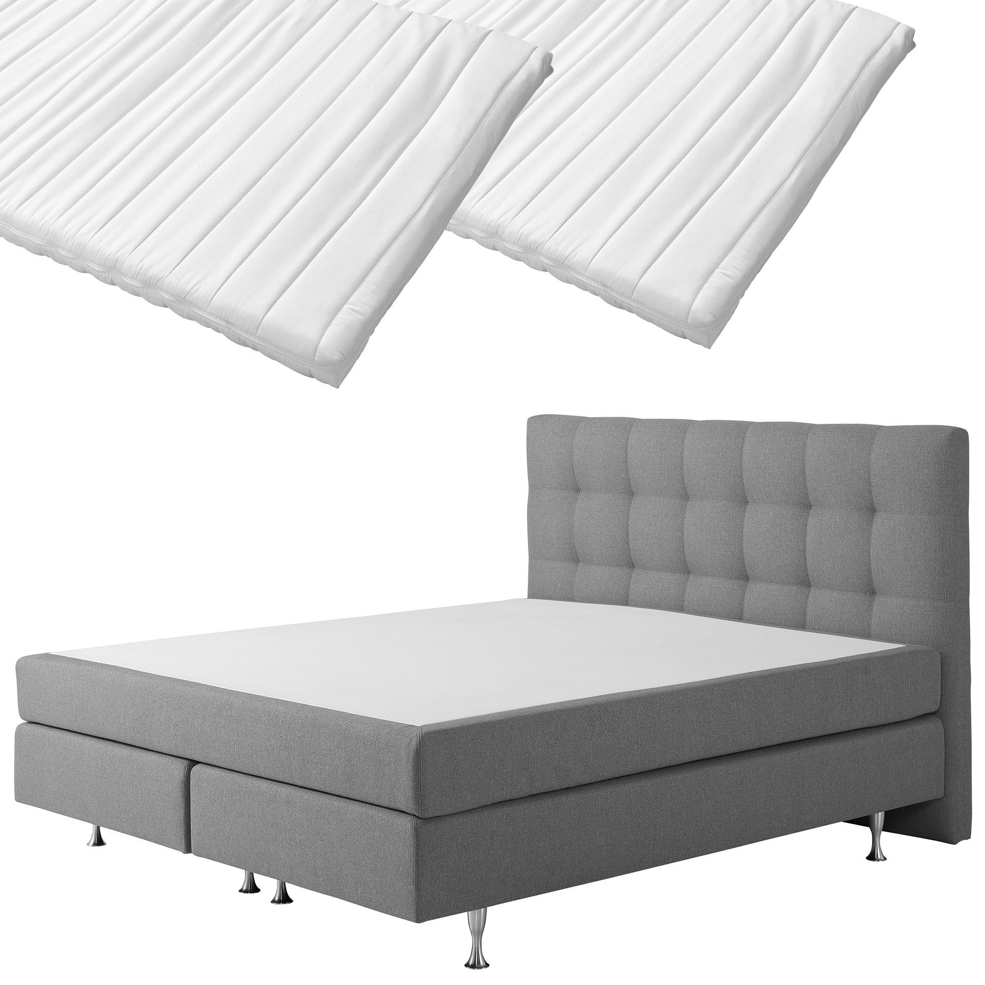 Boxspringbett-Set SCHLARAFFIA® Nordic/ErgoMAXX® Komfortschaum-Topper Stockholm (180x200, 2 Topper)