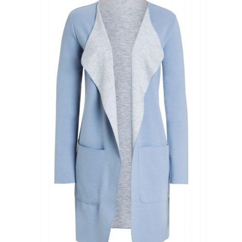 Sweatmantel, bleu/grau