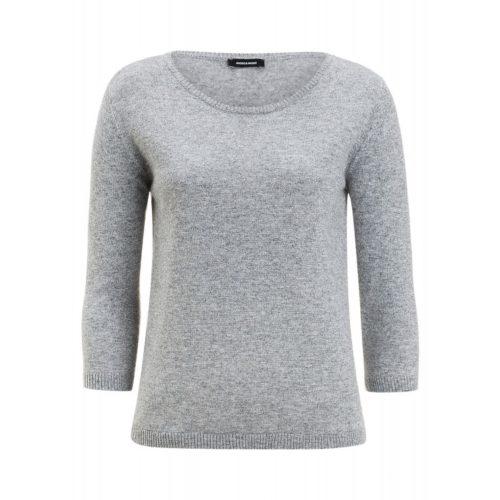 Lurex-Pullover, grau