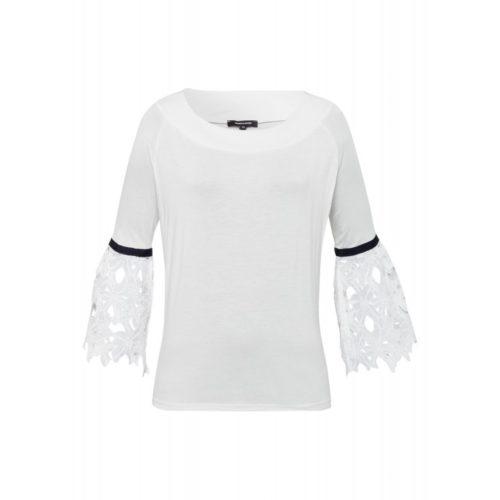 Shirt, Spitzen-Ärmel, ecru