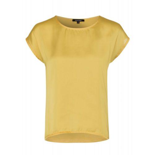 Shirt mit Satinfront, gelb