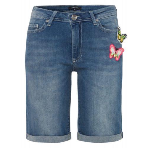 Jeansshorts, Schmetterling-Broschen