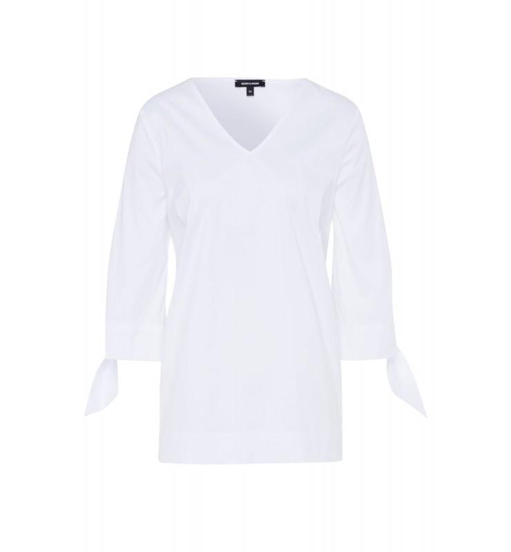 weiße Bluse, Popeline