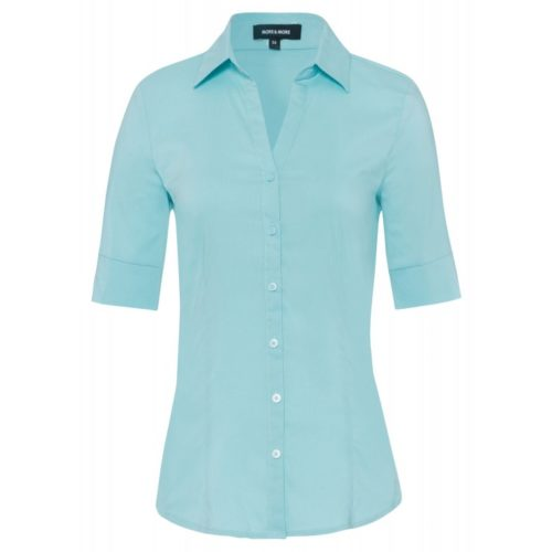 Baumwoll/Stretch Bluse, soft türkis