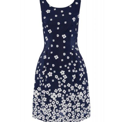 Kleid, Blumen-Jacquard