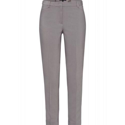 Track-Pants, grau/weiß