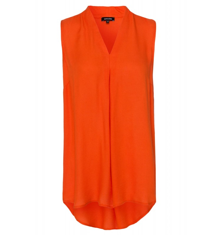 Viskosebluse, orange