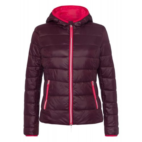 Steppjacke, bordeaux/pink