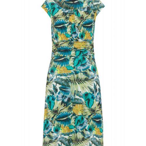 Jerseykleid, Leafprint