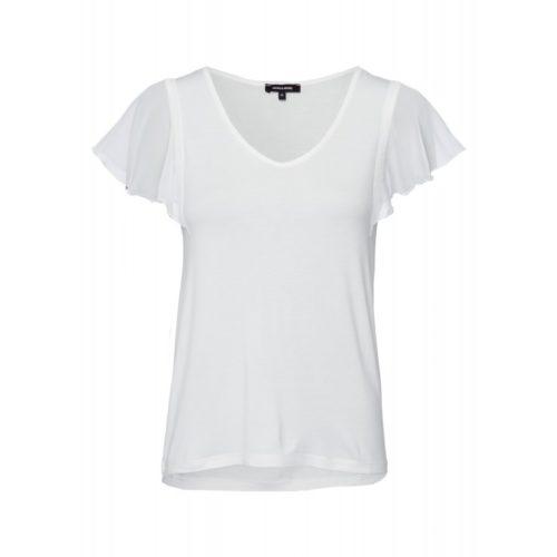T-Shirt, Chiffon-Ärmel, ecru