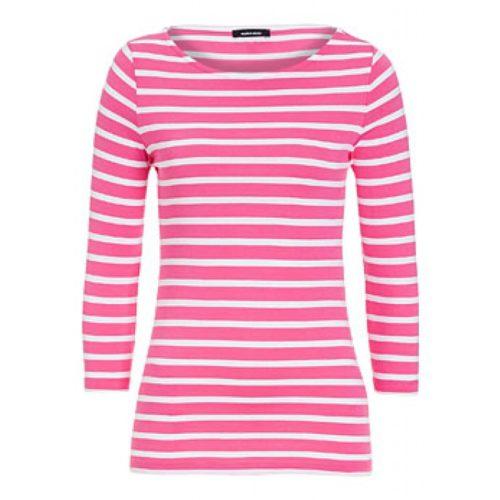 Ringelshirt, pink/weiß