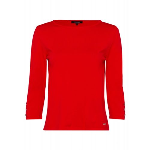 3/4 Arm Pullover, rot