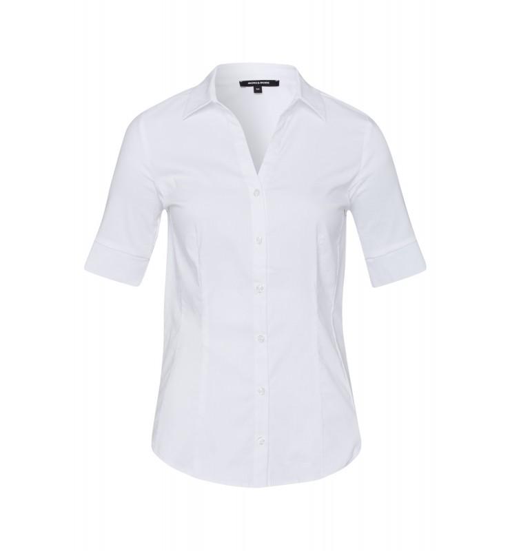 Baumwoll/Stretch Bluse, weiß