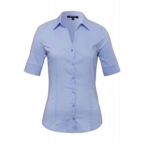 Baumwoll/Stretch Bluse, hellblau