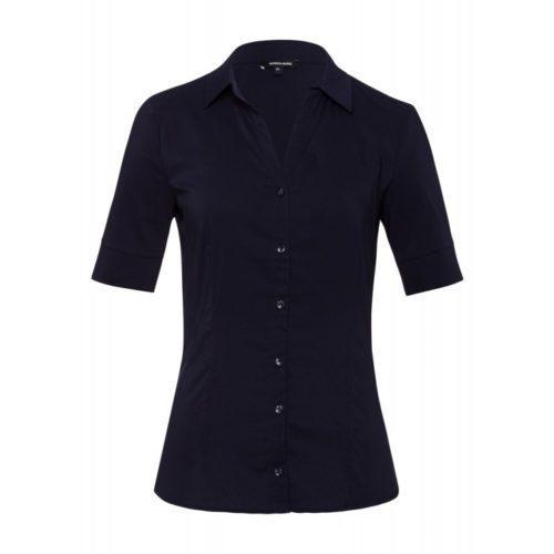 Baumwoll/Stretch Bluse, marine