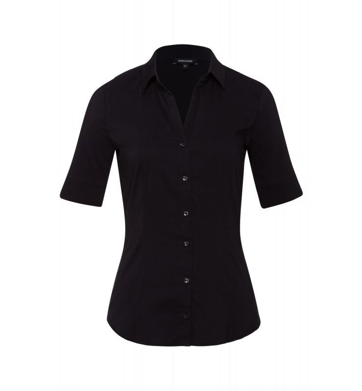 Baumwoll/Stretch Bluse, schwarz