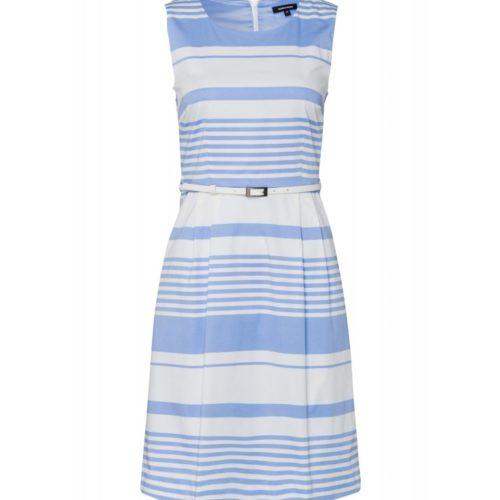 Kleid, hellblau/weiß