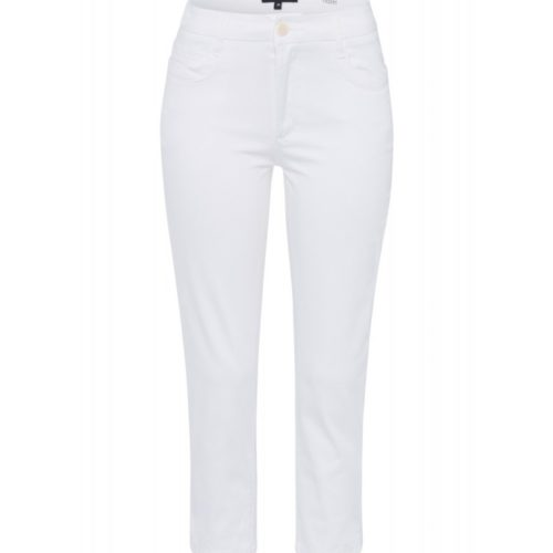 weiße 3/4 Hose, Baumwoll-Stretch, Hazel