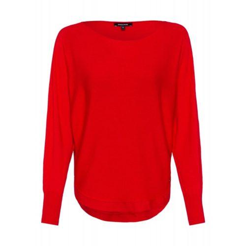 Pullover, Fledermausärmel, rot