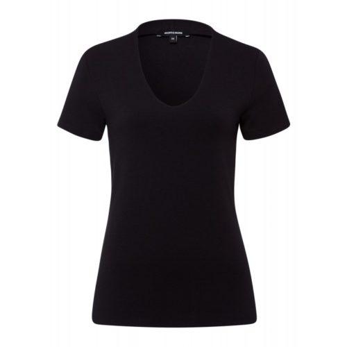 T-Shirt, Baumwolle/Modal, schwarz