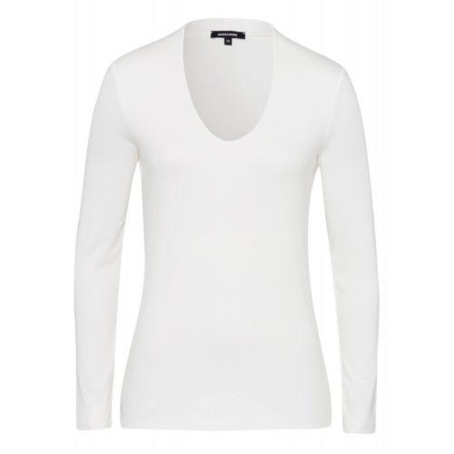 T-Shirt, Baumwolle/Modal, ecru