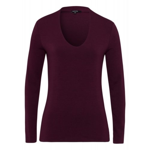 T-Shirt, Baumwolle/Modal, bordeaux
