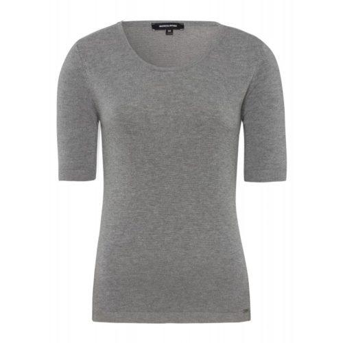 Feinstrick-Pullover, grau