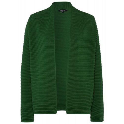 Querripp-Cardigan, grün