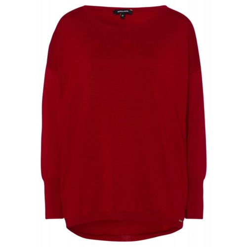 Pullover, Oversize, rot