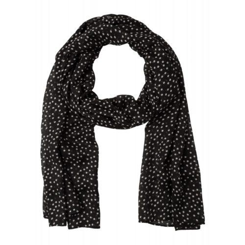 Schal, Tupfen-Print, schwarz/weiß