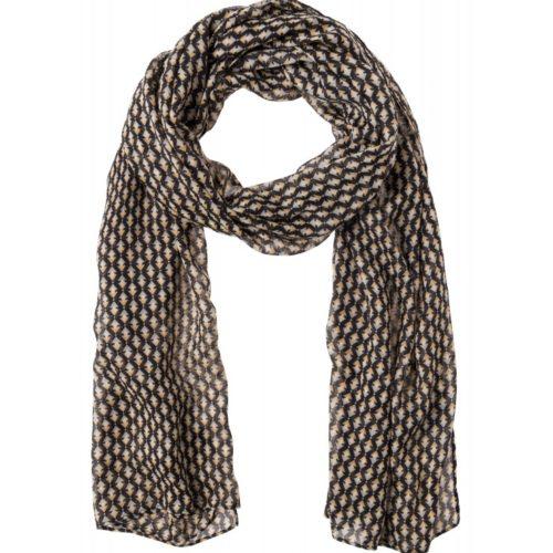 Schal, Minimalprint, schwarz/grau/sand