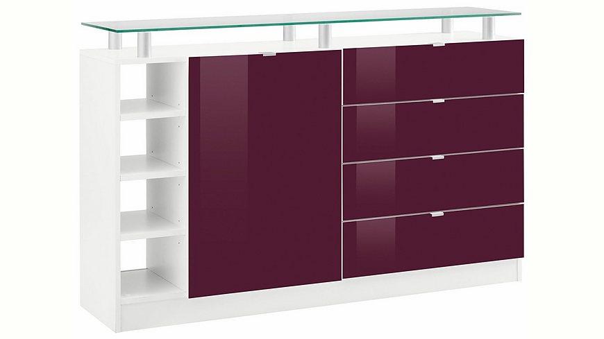 Borchardt Möbel Kommode, »Dolly« Breite 135 cm, mit Glasablage