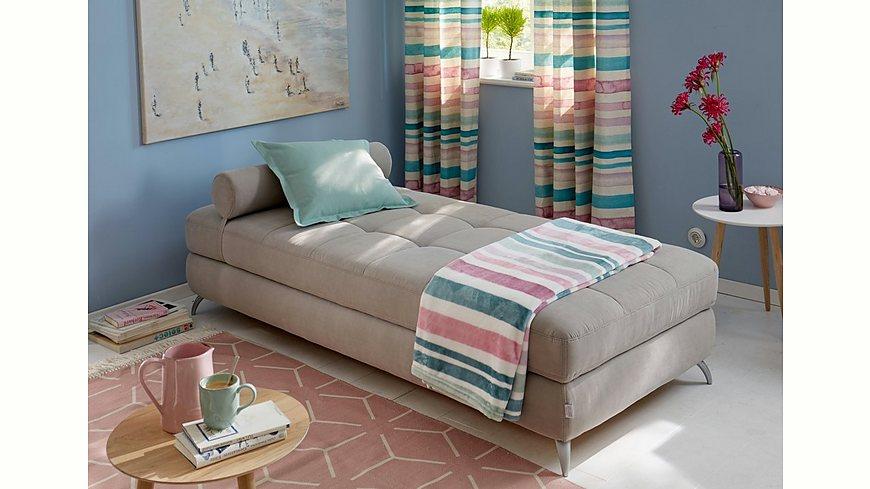 GMK Home & Living Daybed mit Bettkasten und Nackenrolle