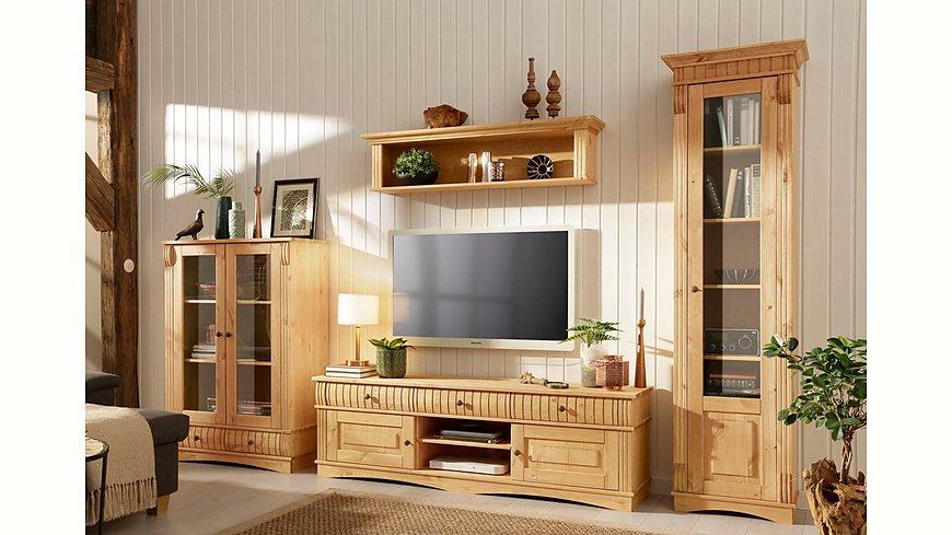 Home affaire 3-teilige Wohnwand «Teresa», bestehend aus 1 Vitrine klein, 1 Vitrine groß, 1 Lowboard