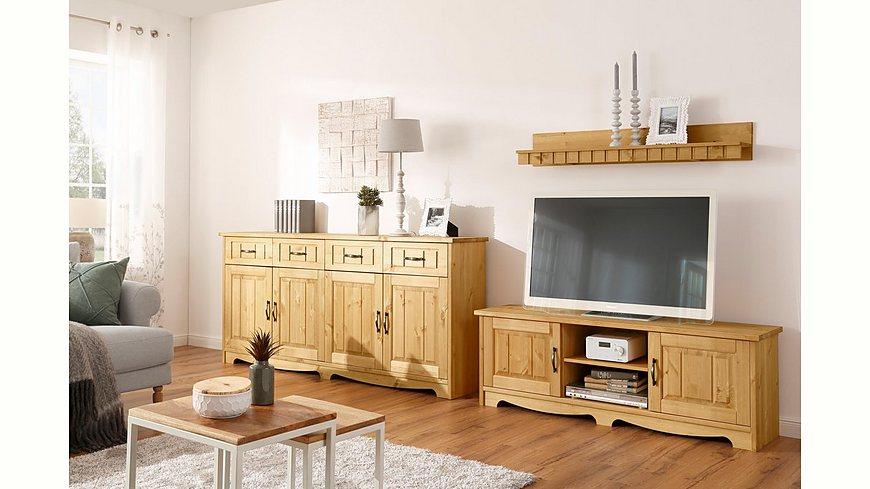 Home affaire 3-teilige Wohnwand «Trinidad», Set aus 1 Wandboard, 1 Sideboard, 1 Lowboard