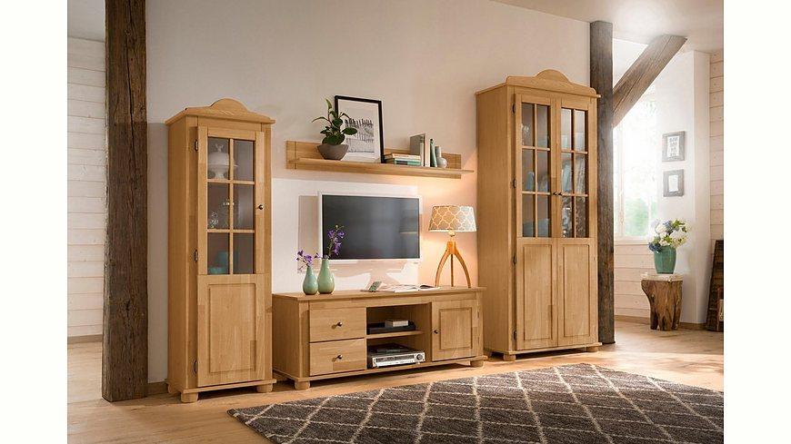 Home affaire 4-teilige Wohnwand »Pedro«, bestehend aus 2 Vitrinen, 1 Lowboard, 1 Wandregal