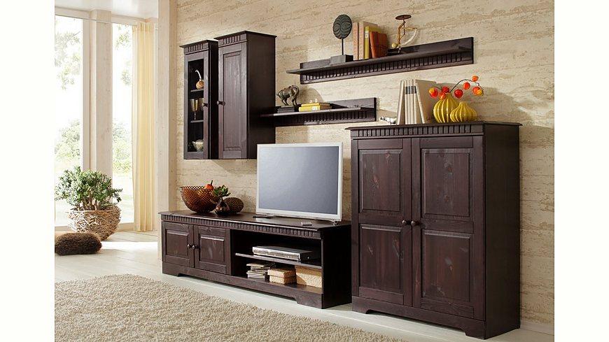 Home affaire, 4-teilige Wohnwand, Set aus: 2 Hängeschränken, Lowboard und Kommode