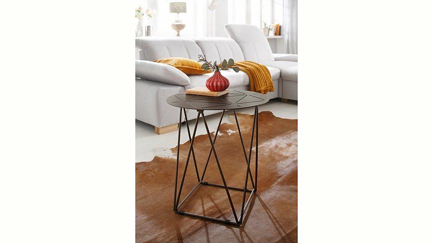 Home affaire Beisstelltisch »Cypress«, Ø 50 cm, aus Metall