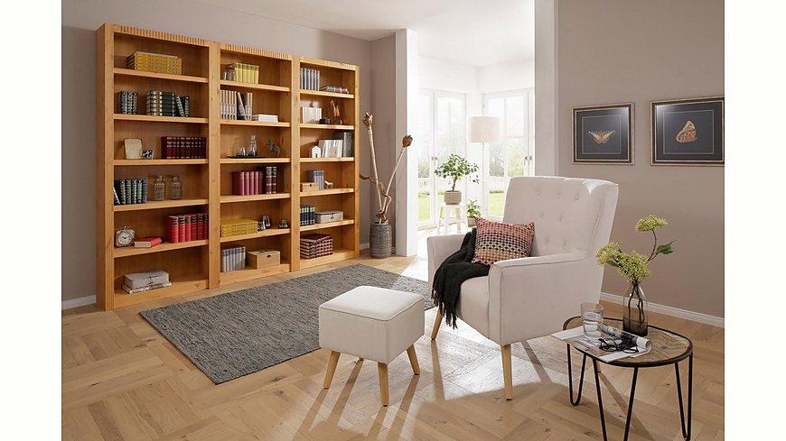 Home affaire, Bücherwand »Bergen«, (3-tlg.), Breite 244,5 cm