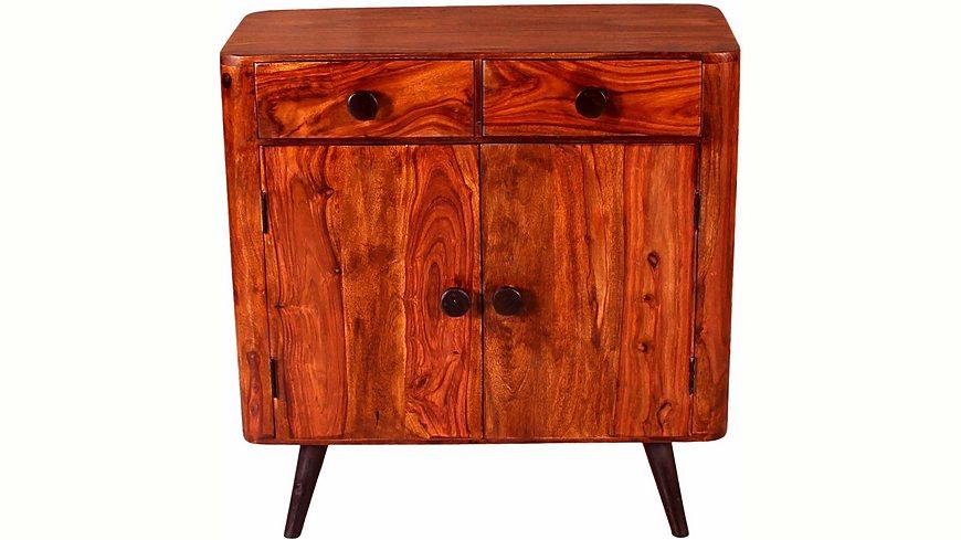 Home affaire Kommode »Knob«, Breite 100 cm, mit zwei Türen und zwei Schubladen