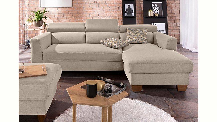 home affaire polsterecke steve mit kopfteilverstellung auch mit bettfunktion bettkasten. Black Bedroom Furniture Sets. Home Design Ideas