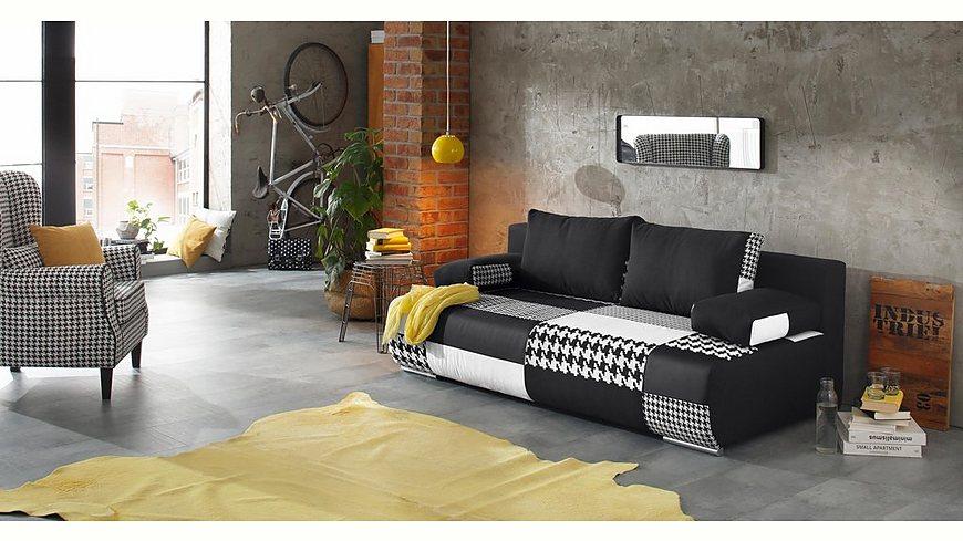 Home affaire Schlafsofa »Joe« in Patchwork-Design oder unifarben, mit Bettkasten