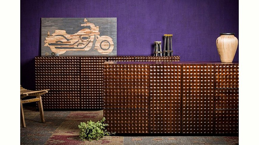 Home affaire Sideboard »Array«, aus massivem Mangoholz, Fronten mit ausgefallenem Profil