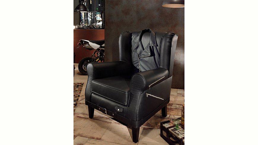 Inosign Sessel »Bono« im außergewöhnlichen Style mit Reißverschlüssen und »Jacken«-Rücken