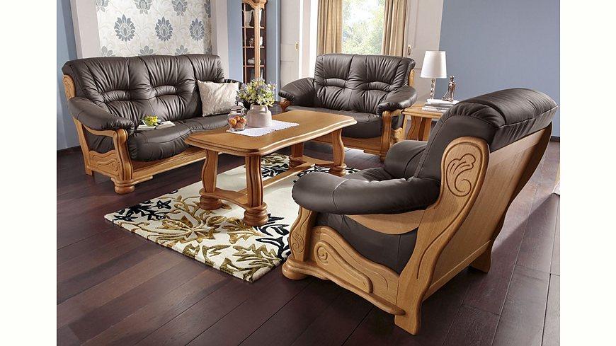 Max Winzer® Polstergarnitur »Texas«, mit dekorativem Holzgestell, 2-tlg.