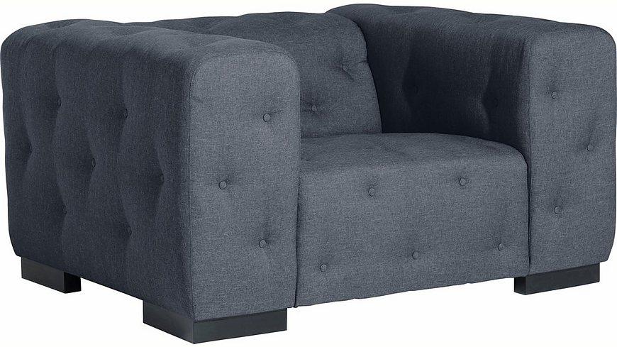 Max Winzer® Sessel »York« mit Knopfheftung, Breite 130 cm