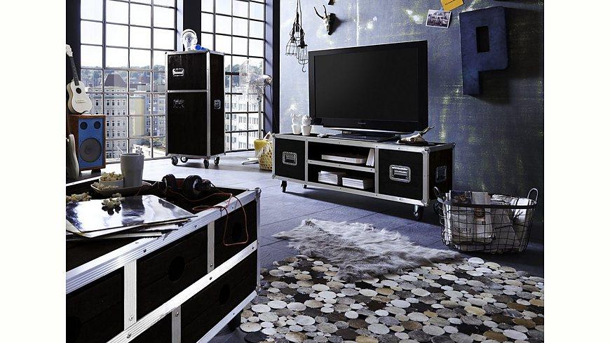 SIT TV-Lowboard »Dark Roadies«, Breite 140 cm, mit Aluprofilen und Rollen